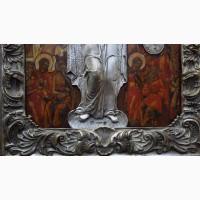 Образ Матери Божией «Всех Скорбящих Радосте» в серебряном окладе. Россия, XVIII век