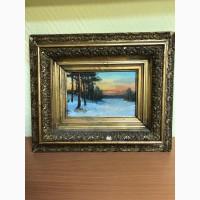 Картина неизвестный художник Зимний закат