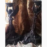 Подсвечники бронза две штуки женщина с крыльями