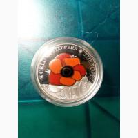Мак Монета Острова Кука 5 долларов 2009