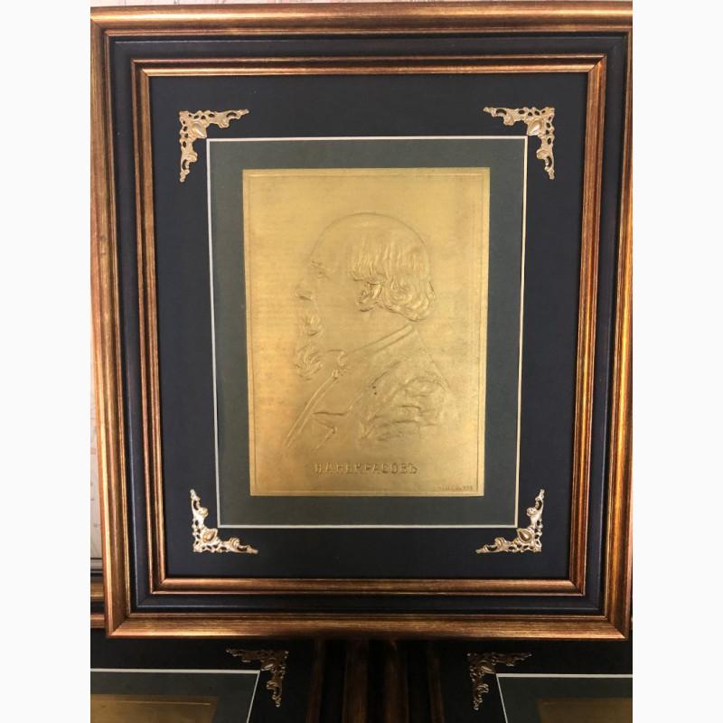 Тисненая гравюра Н.А Некрасов Издание т-ва Киббель, С.Петербург 1900 год