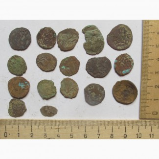 Монеты Золотая Орда, татаро-монголы, коллекция 17 шт
