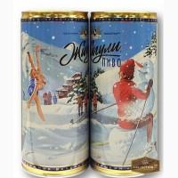 Банка пиво барное ЖИГУЛИ Осторожно,Снег в Москве