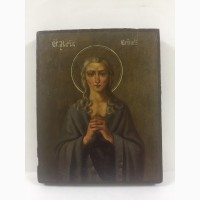 Старинная икона Св.Марии Египетской 19 век