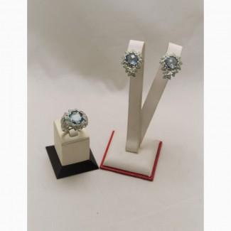Продаются Серебряные серьги и кольцо с топазом Morning Dew. Европа