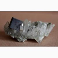Кварц, галенит, друза кристаллов