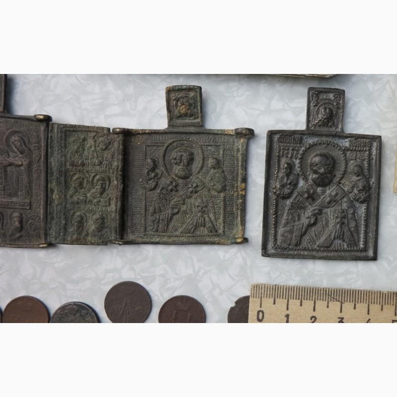 Фото 3. Нательные латунные иконы, 18 век