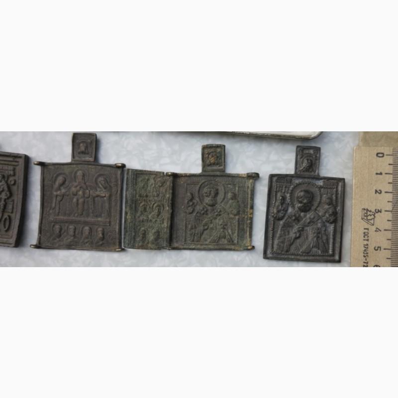 Фото 4. Нательные латунные иконы, 18 век