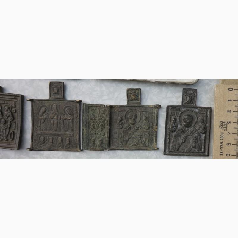 Фото 5. Нательные латунные иконы, 18 век