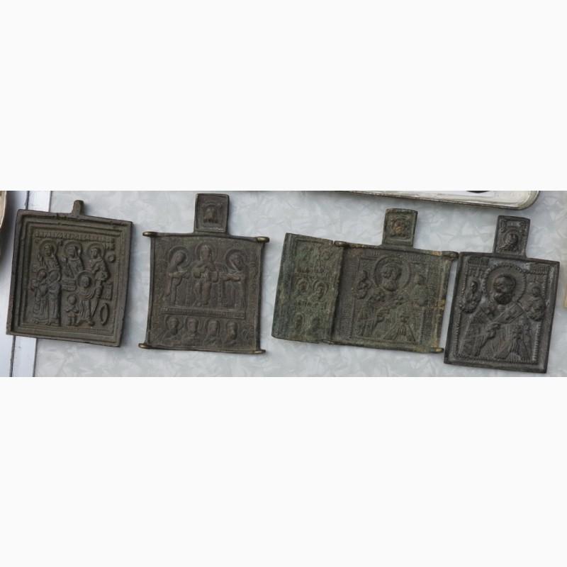 Фото 6. Нательные латунные иконы, 18 век