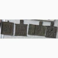 Нательные латунные иконы, 18 век