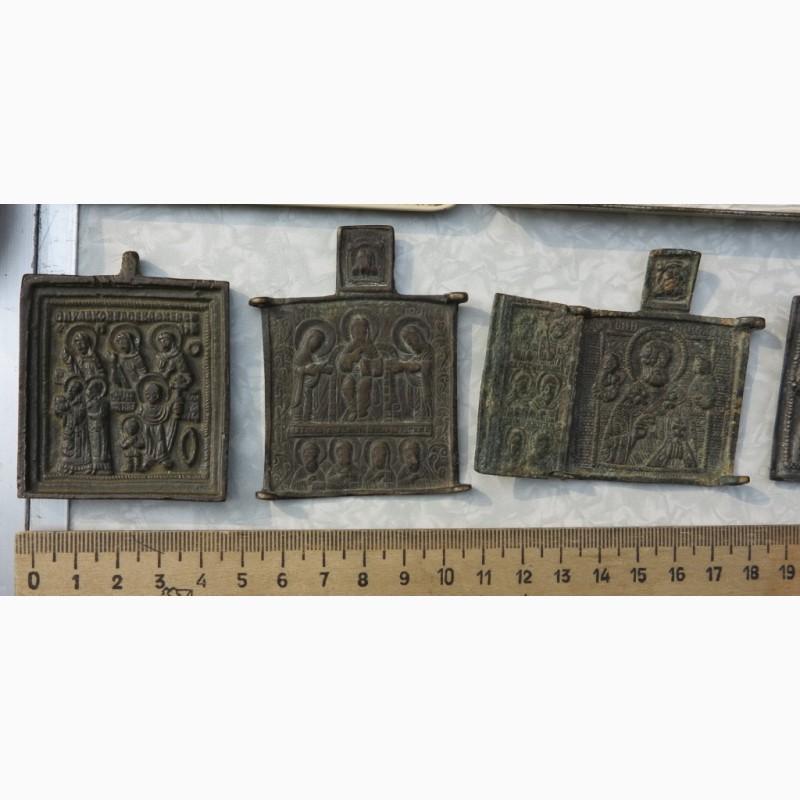 Фото 7. Нательные латунные иконы, 18 век