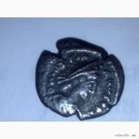 Продам античную монету Херсонес имп Лев - голова воина, реверс геометрическое письмо