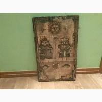 Продам панно Муж и Жена Валерия Миронова, 59х37см, акрил/дерево, частная коллекция, Москва