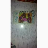 Марка Эквадор 1968г спорт