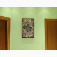 Продам панно Ворон Валерия Миронова, 59х36см, акрил/дерево, частная коллекция, Москва