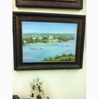 Продам картину южный город на реке
