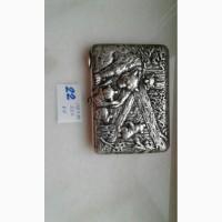 Продам портсигар серебренный Медведи