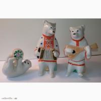 Статуэтки Цирковые медведи Дулево