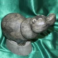 Бегемот Фунтик скульптура авторская работа бизнес подарок оригинальный сувенир