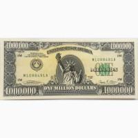 Купюра $1000000 имеется сертификат и вкладка описание защиты