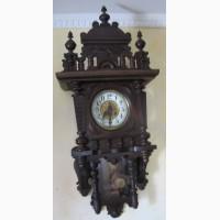 Часы настенные в деревянном корпусе, Франция, 19 век