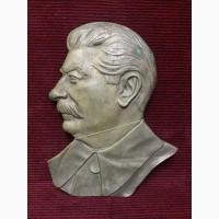 Барельеф И.В Сталин Бронза
