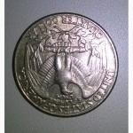 Монета 1981 liberty quarter dollar