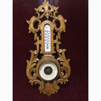 Барометр с термометром (в деревянно корпусе) Россия