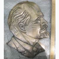 Латунное панно Ленин, СССР