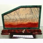 Продам Пейзажный агальматолит, змеевик, яшма, #157
