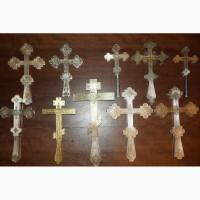 Коллекция из десяти старинных напрестольных крестов. Серебро 84 пробы. Россия, XIX век