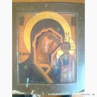 Икона редкая казанская божья матерь 19век уральское письмо