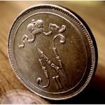 Раритет. Редкая, медная монета 10 пенни 1917 года