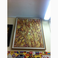 Продам картину большой желтый человек