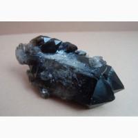 Морион, дымчатый кварц, сросток кристаллов