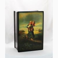 Продается Лаковая шкатулка Дети бегущие от грозы. Федоскино 1944 год