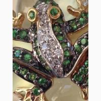 Ювелирный гарнитур Лягушки, кольцо, серьги