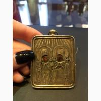 Икона миниатюра Сергий и Герман Валаамские чудотворцы