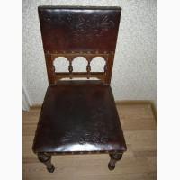 Продается набор кожаных стульев 19 век Германия