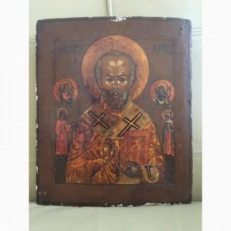 Продам старинную икону Николай Чудотворец
