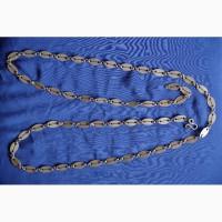 Массивная позолоченная цепь к протоиерейскому наградному кресту. Серебро 84 пр