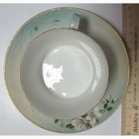 Фарфоровая чайная пара, фарфор Кузнецова
