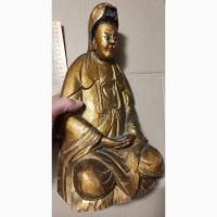 Деревянная скульптура будда бодхисаттва падмапани, 19 век