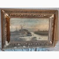 Картина. Голландский художник L. Haina 1790 год