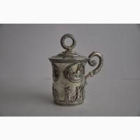 Антикварная Серебряная кружка с крышкой. 84 проба. 1833 год