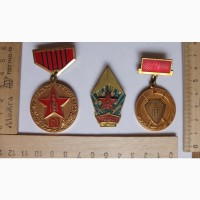 Медали монгольские в тяжелом металле, 3 шт