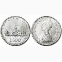 4 монетв Италии в тч серебро Корабли Колумба