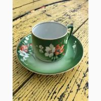 Чайная пара Букет Вербилки, начало 20-го века