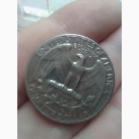 Продам монету сша liberty quarter dollar 1972 года в отличном состоянии